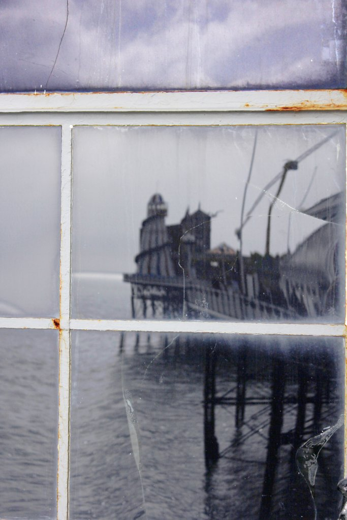 Reflected old pier